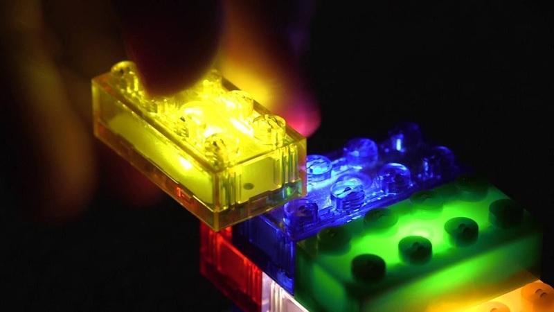 Конструктор ночник LEGO Light Stax Детский светящийся конструктор