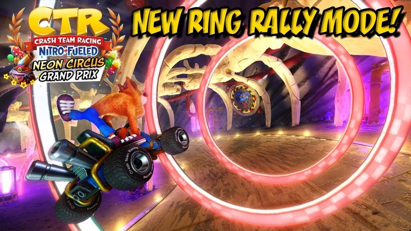Crash Team Racing Nitro Fueled Ring Rally New Track Characters More in Neon Grand Prix