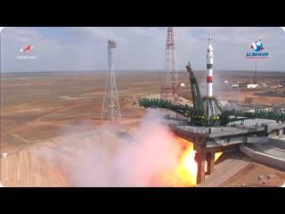 Пуск РН Союз-2.1а с ТПК Союз МС-16 к МКС   9 апреля 2020 г