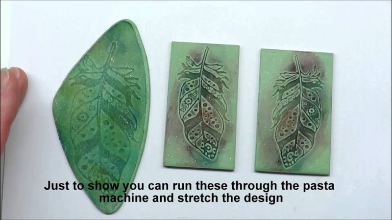 Silkscreened Polymer Clay Feathers