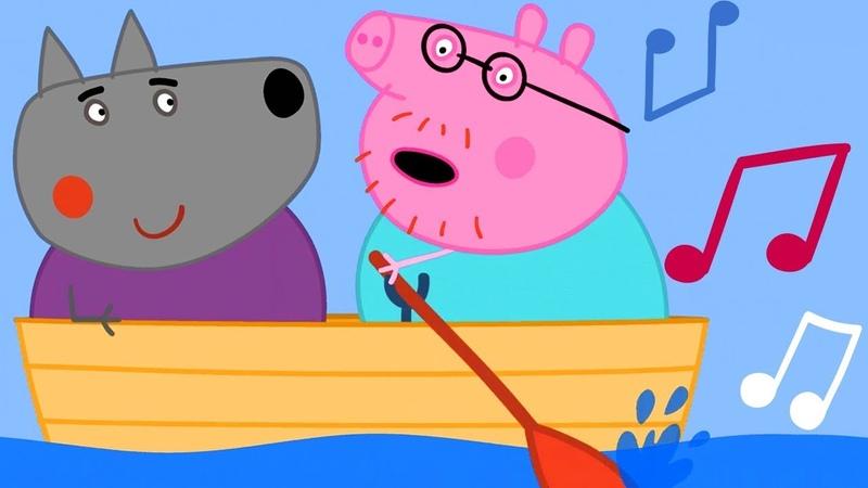 Row Row Row Your Boat Song | Peppa Pig Nursery Rhymes Kids Songs | Peppa Pig Songs | Baby Songs