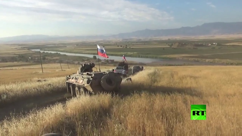 Военная полиция впервые осуществляет патрулирование в районе сирийско турецко ираской границы