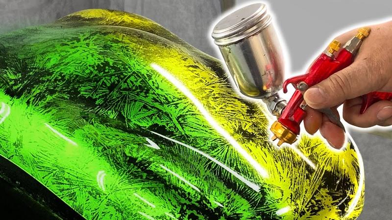 カスタムペイント クリスタルパターンの塗装方法 & キャンディー塗装・ミュータントクリスタルZ・クリスタルFXを再現