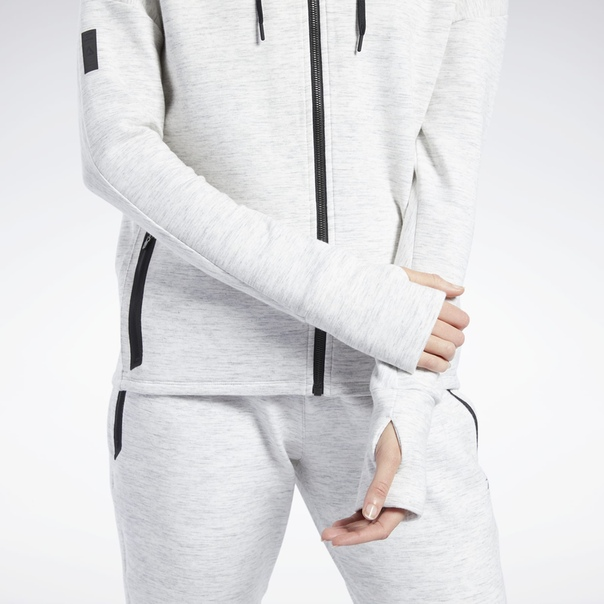 Худи United by Fitness Doubleknit Full-Zip image 5