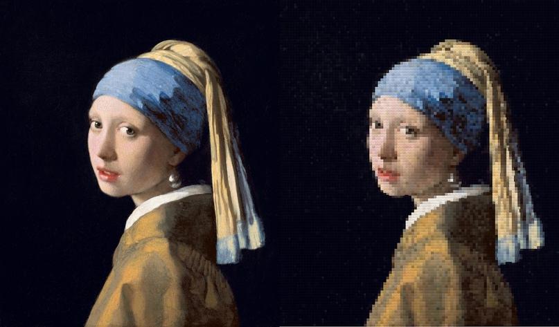 Девушка с жемчужной сережкой Иоганна Вермеера - (100 строк)
