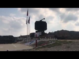 Video of the s-400's 91n6e big bird radar in operation at khmeimim airbase in syria. -