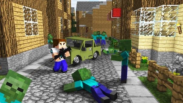 игры майнкрафт выживание в городе зомби #2