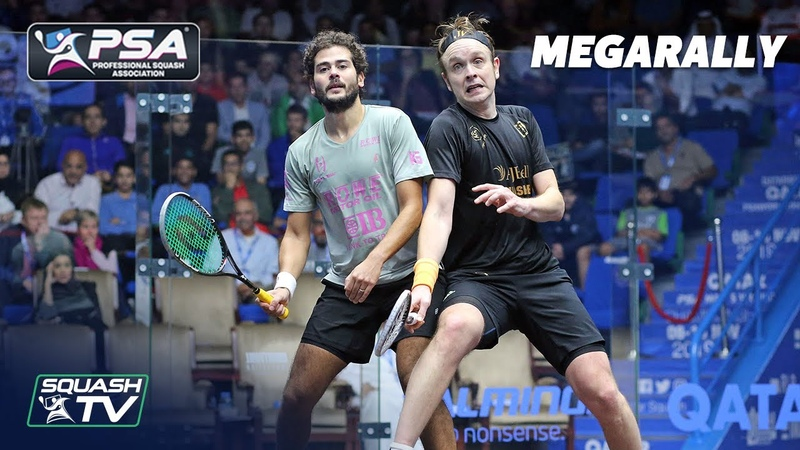 Willstrop does the DOUBLE FAKE again Squash MegaRally Gawad v Willstrop