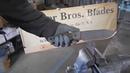 Miller Bros Blades MBB M 8 in CPM S35VN Steel Test Video destruction test