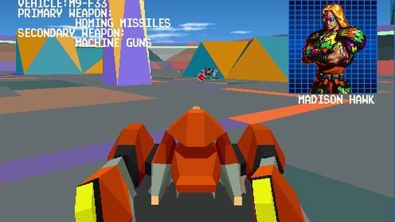 Cyber Sled (Namco 1993) Attract Mode 60fps