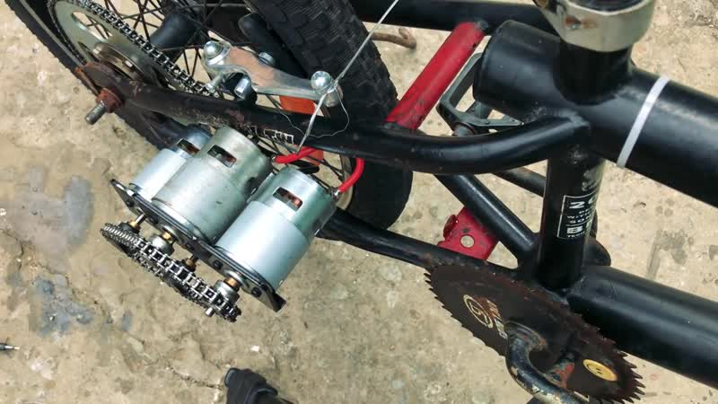 Chế xe đạp điện sử dụng 4 Motor 775 tốc độ 70km h DIY Make Electric Bike using