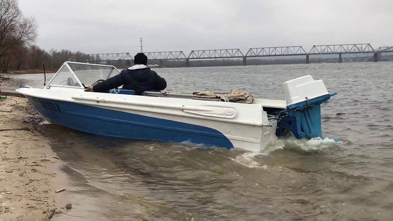 Лодка Крым Вихрь 30 (трим, дистанция приборы)