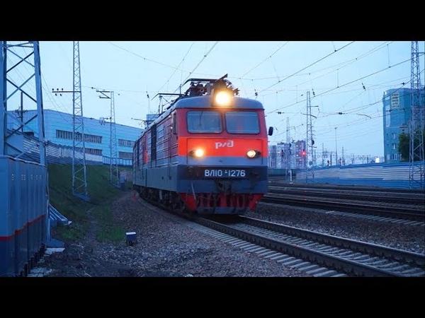 Электровоз ВЛ10К 1276 с грузовым поездом