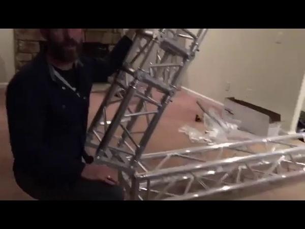 At home aerial truss rig installation