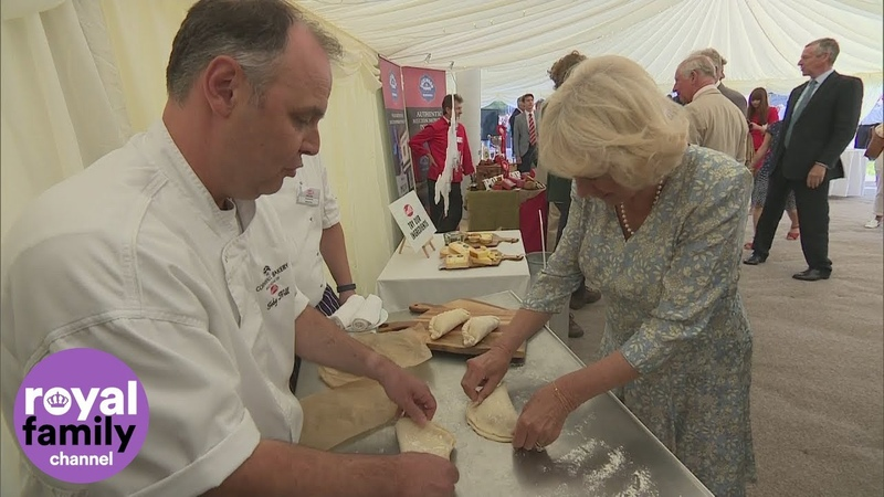 Duchess of Cornwall Makes Pasties on Trip to Ginsters Bakery in Cornwall