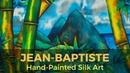 Using Pebeo Setasilk Paints to create a tropical landscape on silk JEAN BAPTISTE