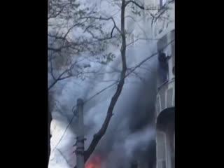 В Одессе загорелся колледж