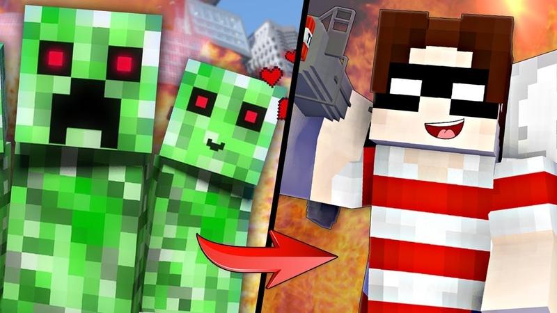 НЯША КРИПЕР ИЛИ ХЭДШОТ - ЧТО ЛУЧШЕ | Майнкрафт Рэп Клип Грифер и Крипер Minecraft Song Animation