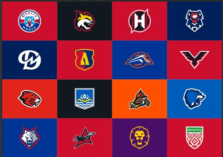 Логотипы всех 15 клубов чемпионата Беларуси по хоккею. Фото: ХК «ЛОКОМОТИВ-OРША» во «ВКонтакте»