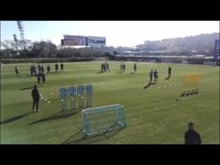Веселое упражнение от фк Реал Вальодолид