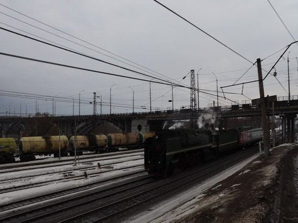 Ретропоезд с паровозом П36-0120 во Владимире