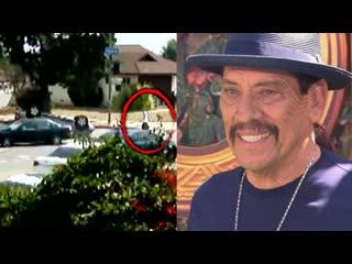 Danny trejo rescues boy trapped in car following crash
