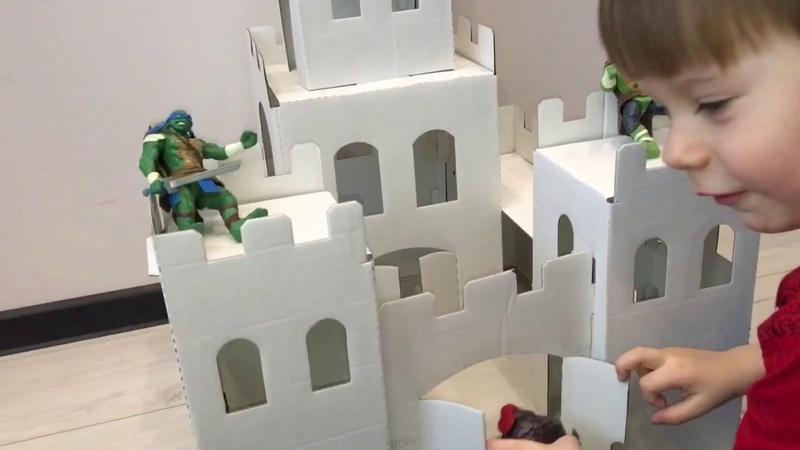 Игрушка раскраска 3D / Рыцарский замок домик для Черепашек Ниндзя / Черепашки
