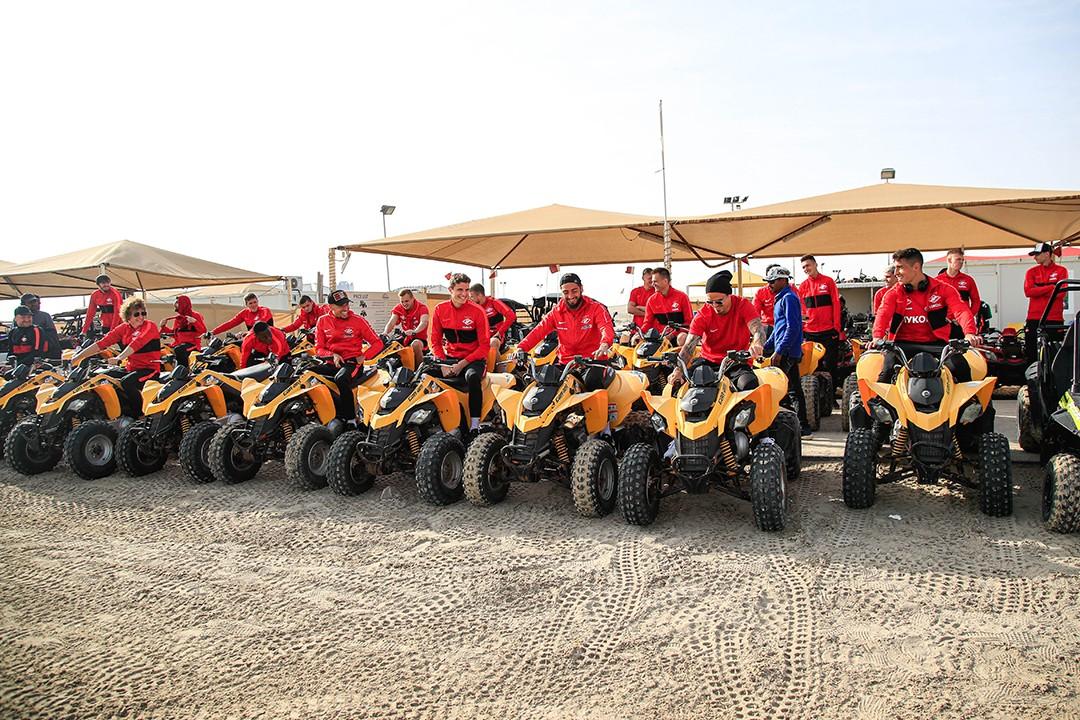 «Спартак» в Катаре: по пустыне на квадроциклах (Видео)