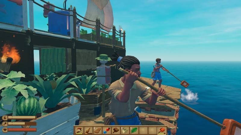 Raft Лето продолжается Строим громадный лайнер Режим Хард