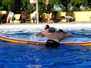 Sam Ross demonstrates how to use the new Starboard Astro SUP rescue board