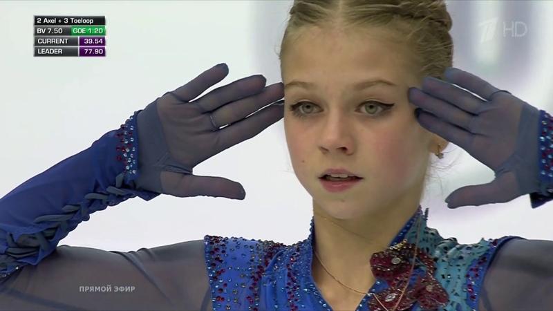 Александра Трусова Произвольная программа Финал Гран при по фигурному катанию 2019 20