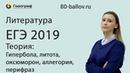 ЕГЭ по Литературе 2019. Теория - Гипербола, литота, оксюморон, аллегория, перифраз