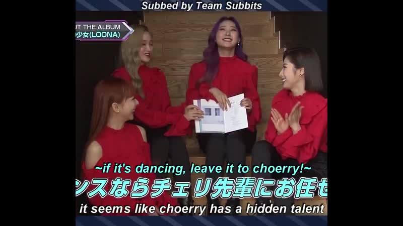 Choerry talking about the choreo she created for butterfly hi-high