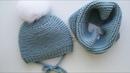 Детская шапочка платочной вязкий размер 0 3 месяца 3 6 месяцев Снуд платочной вязкой снуд детский