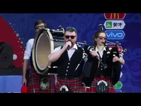 Hard Rock Medley Moscow District Pipe Band FIFA Fan Fest 2018
