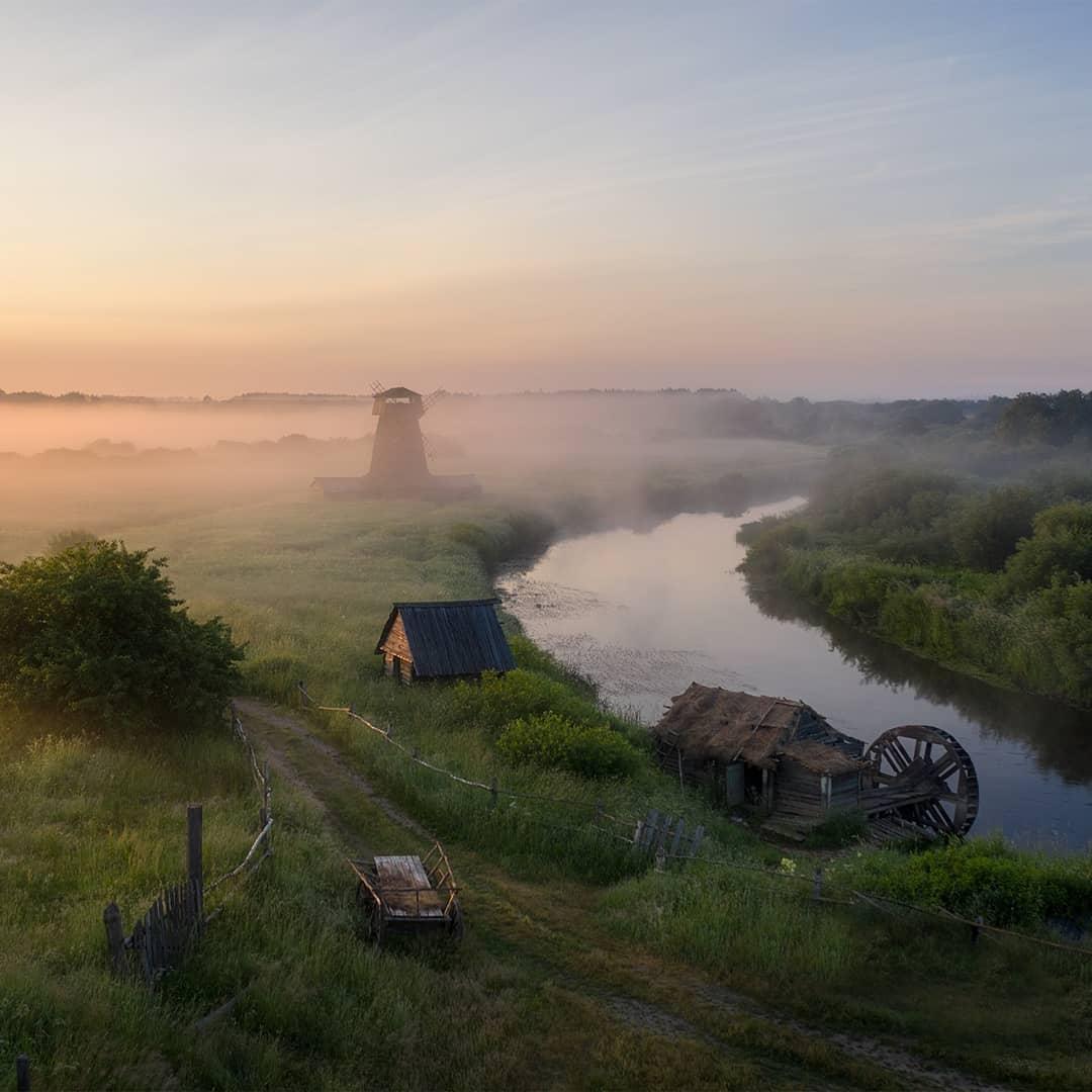 Атмосферная русская деревня 19-го века, полностью...