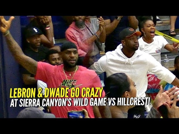 LeBron D Wade Go CRAZY For Bronny Zaire at Sierra Canyon's WILD Game vs Mike Bibby Hillcrest