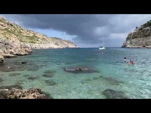 Бухта Энтони Куинна на острове Родос / Anthony Quinn Bay Rhodes Greece