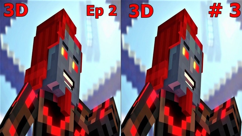 3D VR video Minecraft Story Mode S 2 Ep2 3 3D SBS VR box google cardboard