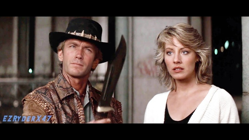 Clint Eastwood as Mick Dundee That's a knife deepfake