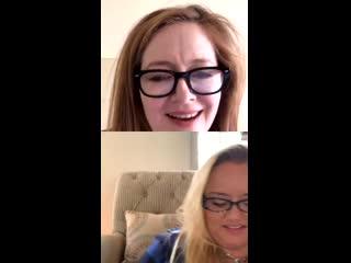 Miranda Otto & Lucy Davis Instagram Live | April 19, 2020