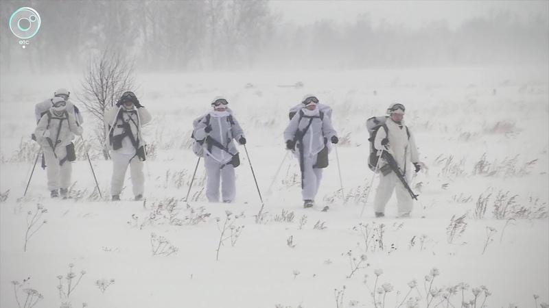Как на Шиловском полигоне прошли учения спецназа в зимних условиях