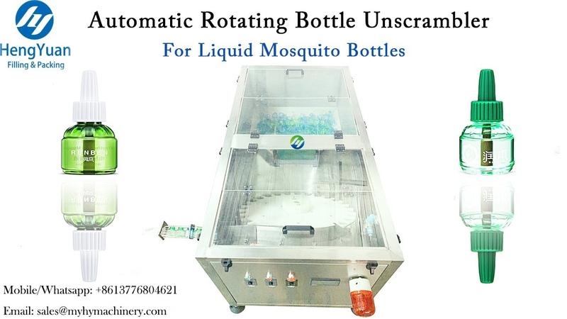 Automatic rotating liquid mosquito repellent killer bottle unscrambler orientor
