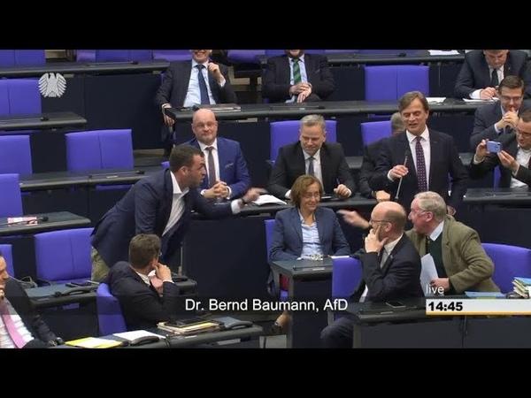 Dr Bernd Baumann AfD zerpflückt Antrag der GRÜNEN zum Verfassungsschutz Anschließen Tumult