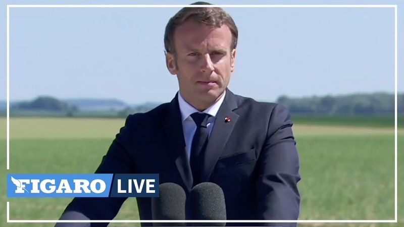 🔴INTEGRALE de l'hommage de Macron à de Gaulle à Montcornet
