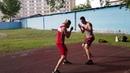 Зеркальный бой с тенью контроль дистанции - Тренировка по боксу - Александр (Барнаул 22) cccpboxer