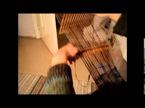 Rigid heddle backstrap weaving weaving a scarf for a quick weaving project easy for beginners