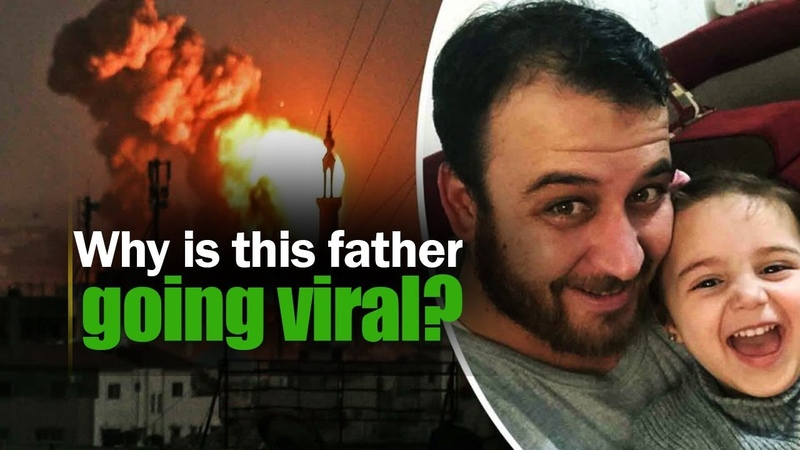 Syrian Dad teaches daughter to laugh at bomb explosions Know why NewsMo
