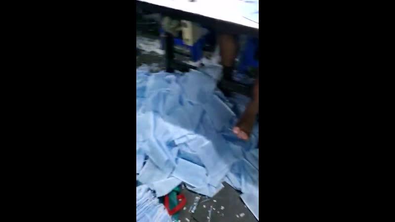 Fabrication de masques chirurgicaux dans un PVD