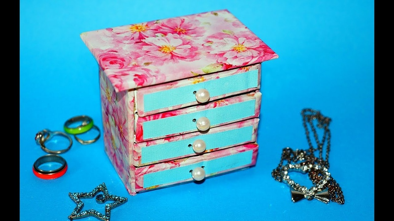 Hand Made Matchbox Craft Easy Jewelry box making tutorial Julia DIY